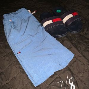 Shorts and sandals in another listing